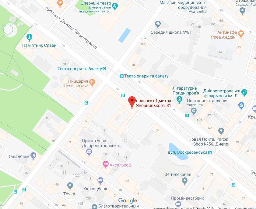 Карта проезда в офис компании Виза Легко
